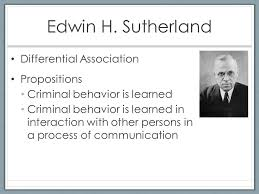 edwin sutherland differential association