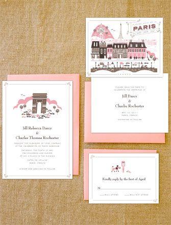 Letterpress Paris Paper Wedding Invitations Wedding Wedding