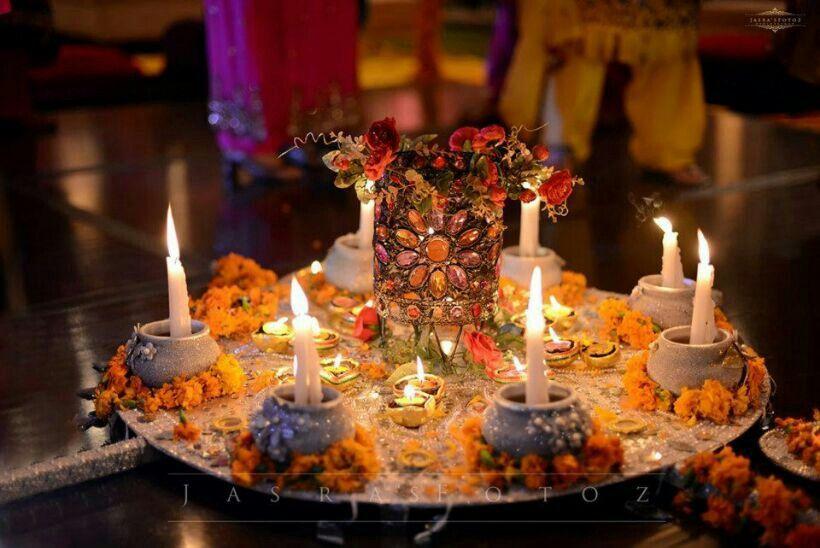 Mehndi Decor Supplies : Mahndi thaal mehndi extravaganza pinterest
