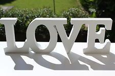 Large White Wooden Love Word Letters Decoration Wedding Sign Plaque