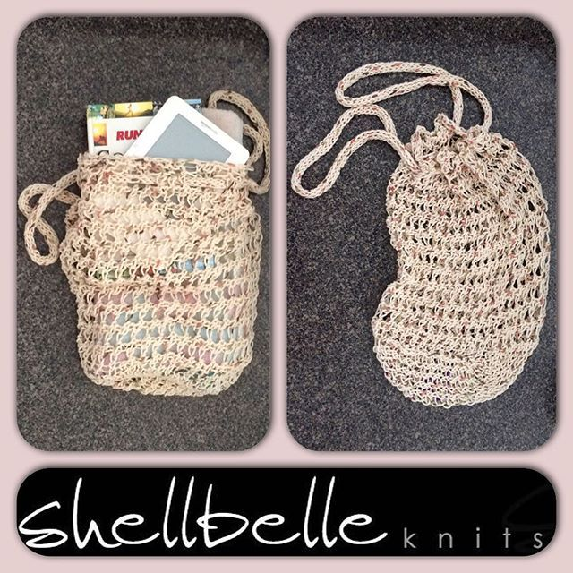 """shellbelleknits loom loombag handmade summerbag"