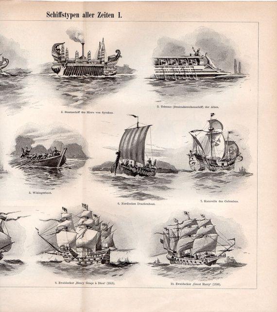 1897 viejos barcos y naves antiguo barco egipcio por - Decoracion de barcos ...