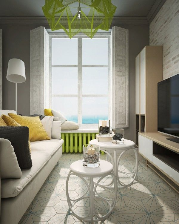 Beautiful A Pair Of Super Small Apartments With Dazzling Neon Accents