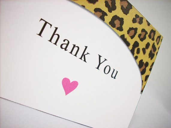 Cheetah Thank You Card Template - Instant Download - Fold Thank - thank you card template