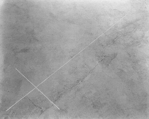 Walter de Maria, 1969. Pieza de Las Vegas. Trazó una cruz con una pala excavadora de más de una milla de longitud. Desierto de Las Vegas, Nevada.