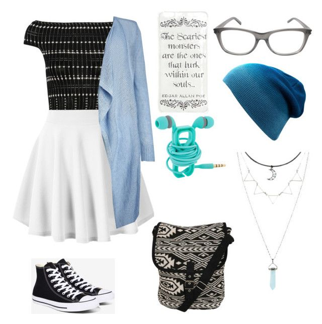 """""""Baby Blue Classic"""" by melceryan on Polyvore featuring Alexander McQueen, Converse, Phase Eight, Pilot, Yves Saint Laurent and Hot Topic"""