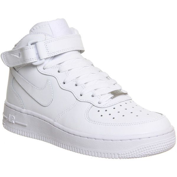b0957be351c9 Nike Air Force 1 Mid Gs White ( 66) ❤ liked on Polyvore featuring shoes