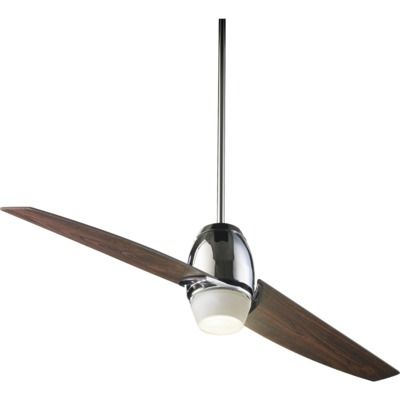 Quorum Muse One Light 54 Two Blade Ceiling Fan In Chrome