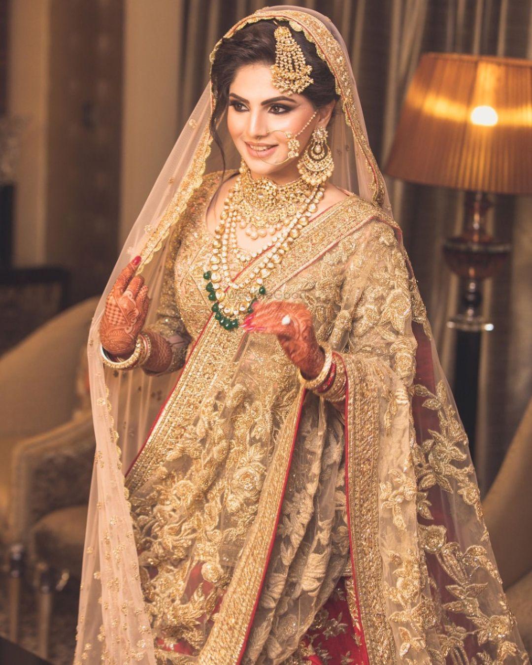 Wedding dress jewelry  This Muslim Bride recreated the look of Anushkaus Sharma