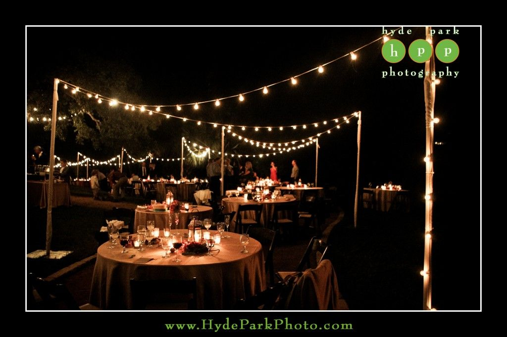 Beautiful outdoor reception at austin wedding venue amoa