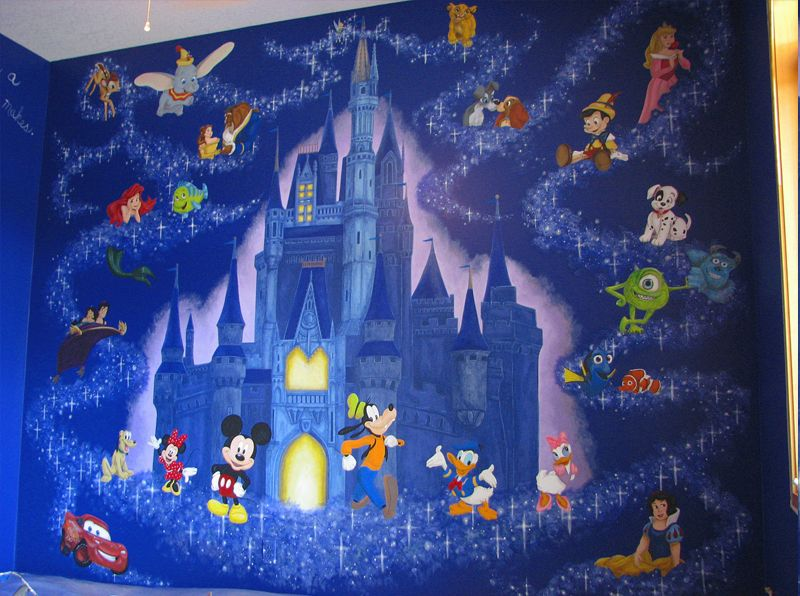 Disney Wall Mural For A Kids Room! Amazing!! I Would So Love To