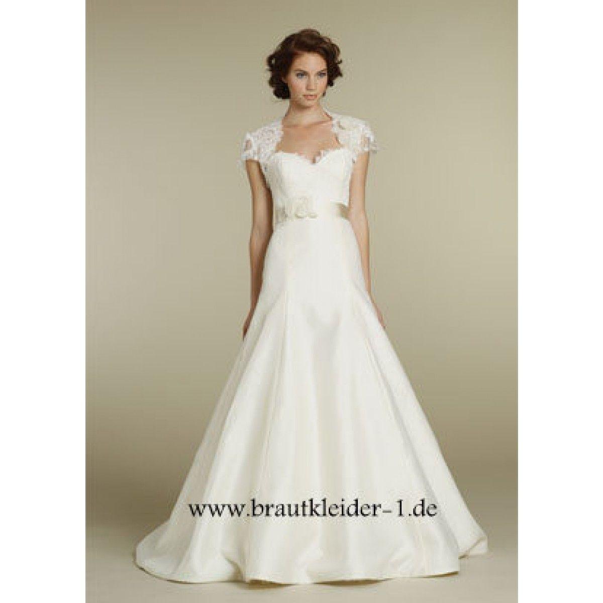 Kurzarm Hochzeitskleid Brautmode Online | Wedding Bridal Dresses ...