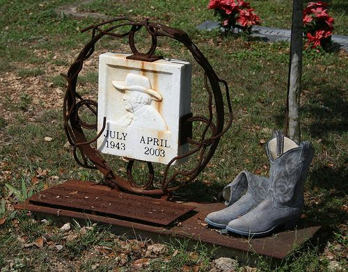 cowboy style headstones - Google Search