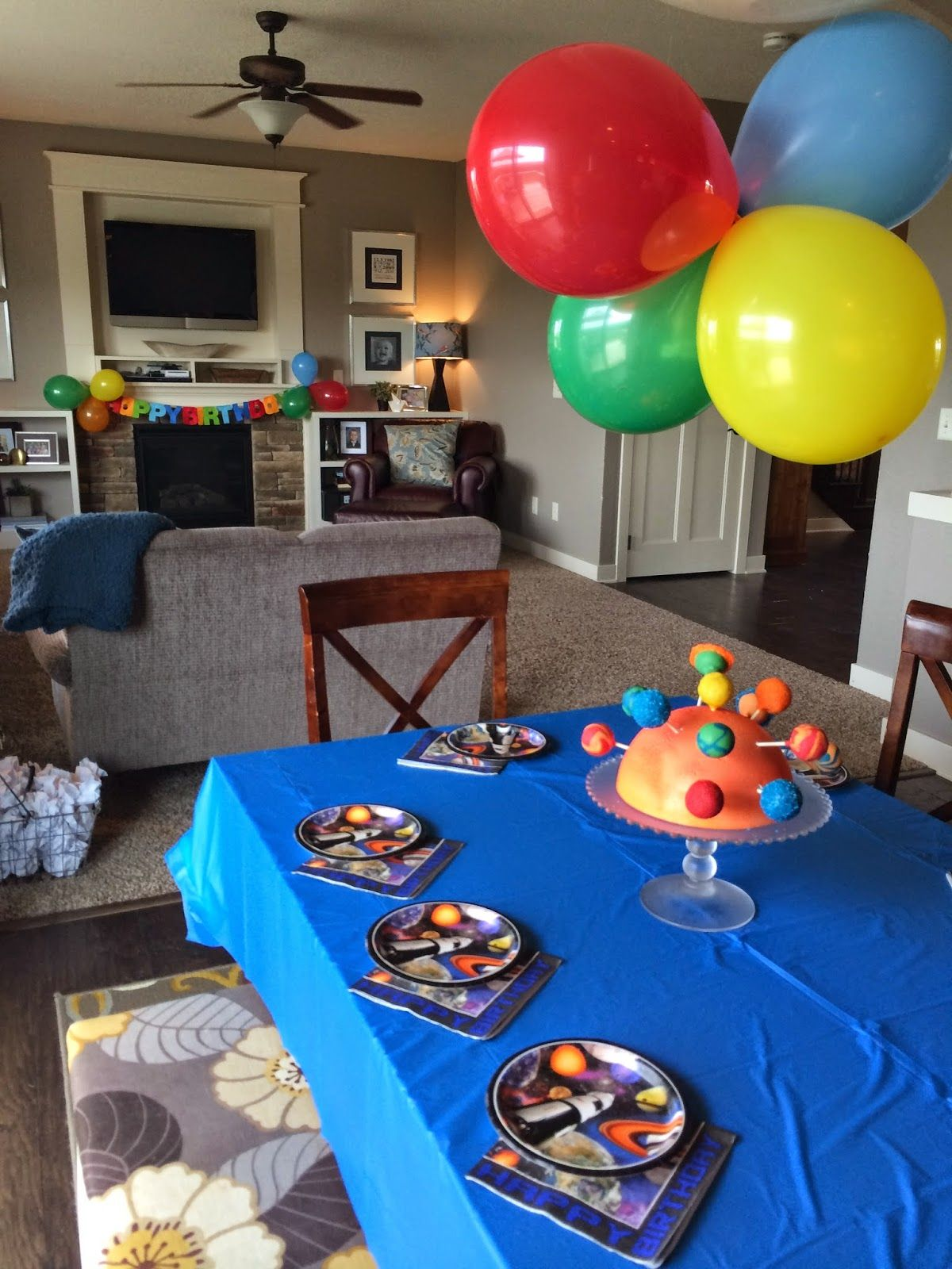 Blast Off to Space 5th Birthday Birthday, Party