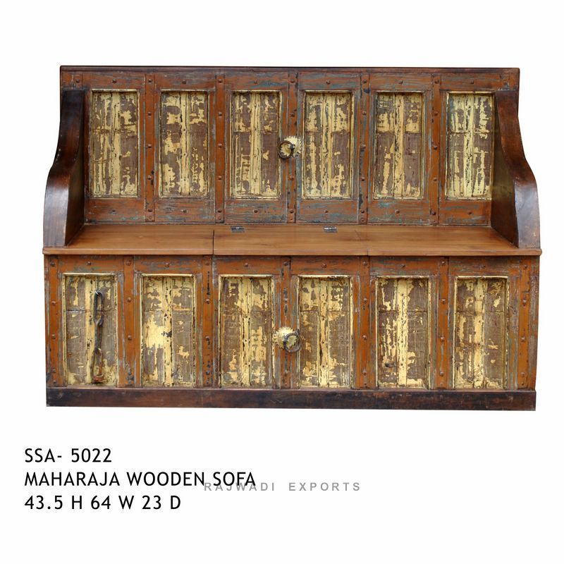 Reclaimed Wooden Antique Design Maharajah Sofa Set Decor Your Home
