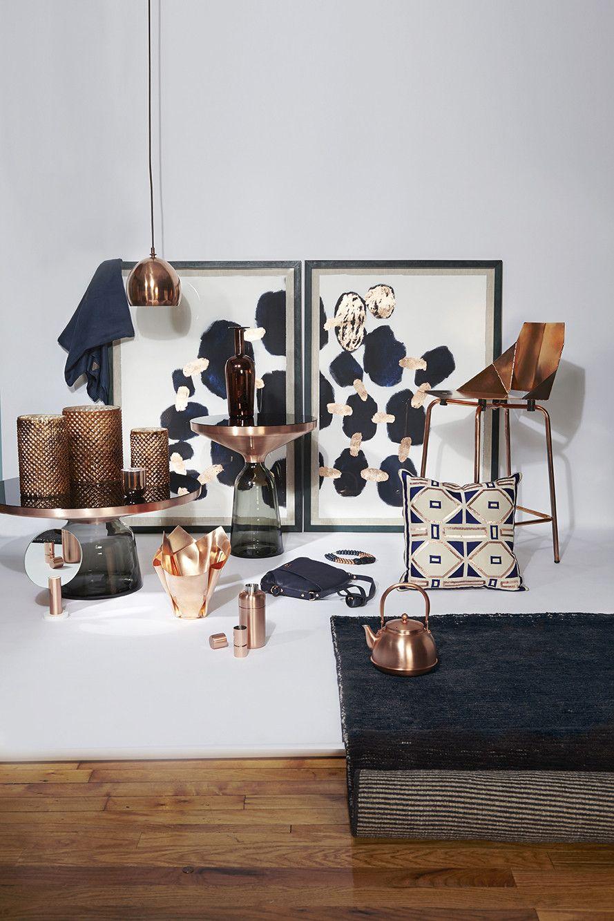 Furniture Photos Navy Home Decor Copper Living Room Copper Decor