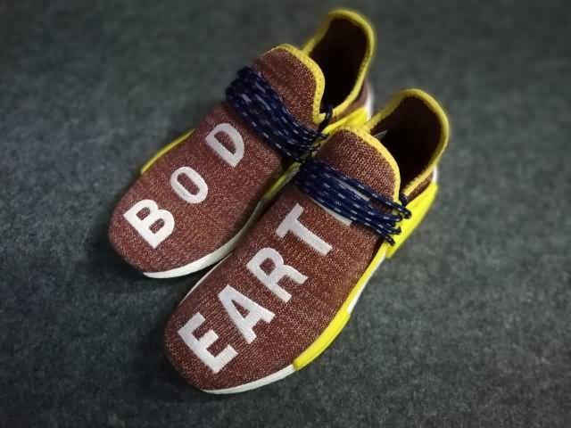 Adidas raza humana NMD AMARILLO unisex Marrón AMARILLO NMD zapatos, buy discount 60 2406be
