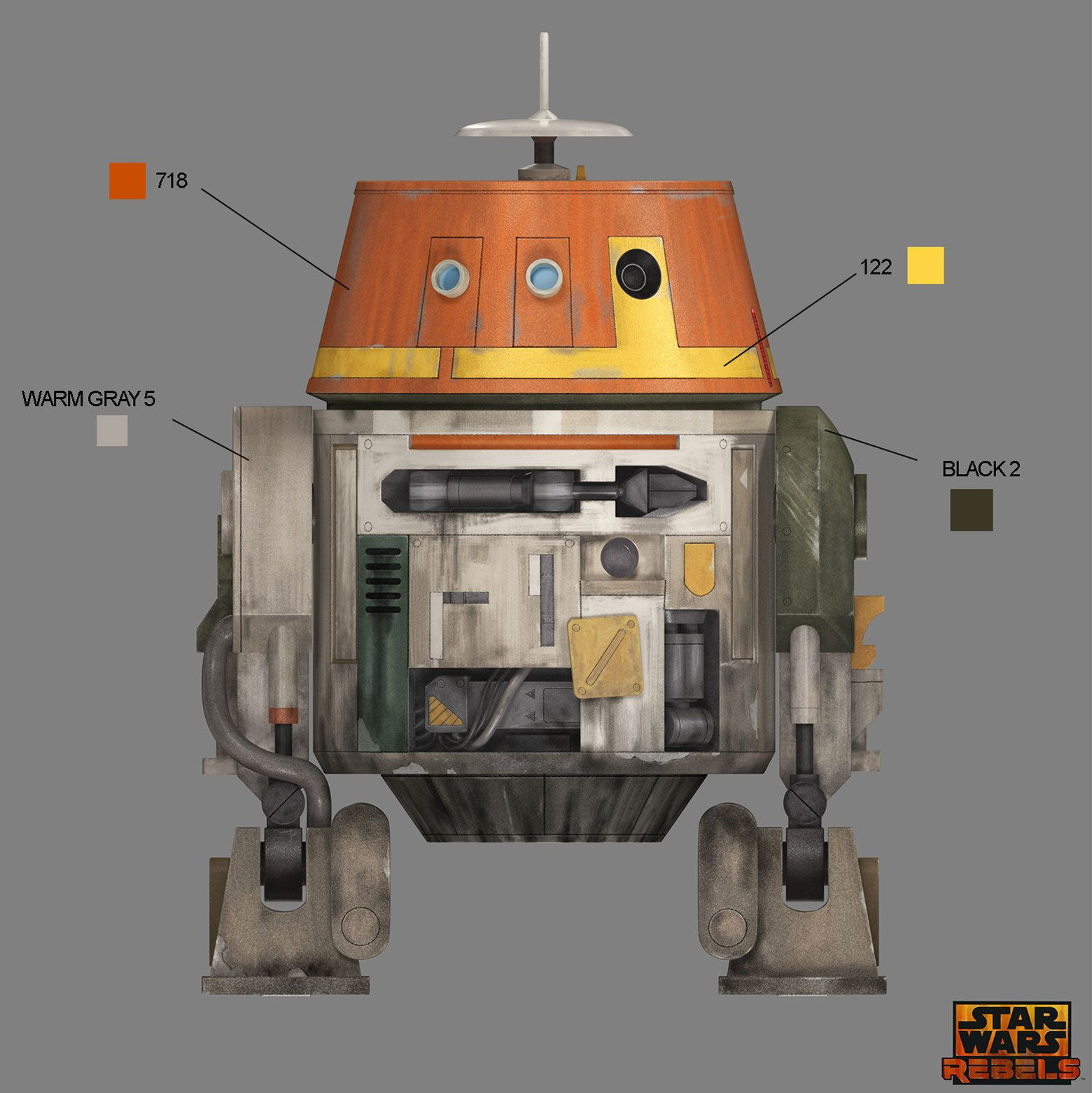 Chopper Star Wars Coloring Pages. Get a jump on your SDCC or Star Wars Celebration cosplay with this handy  color guide Rebels Pantone Colors fun stuff Pinterest