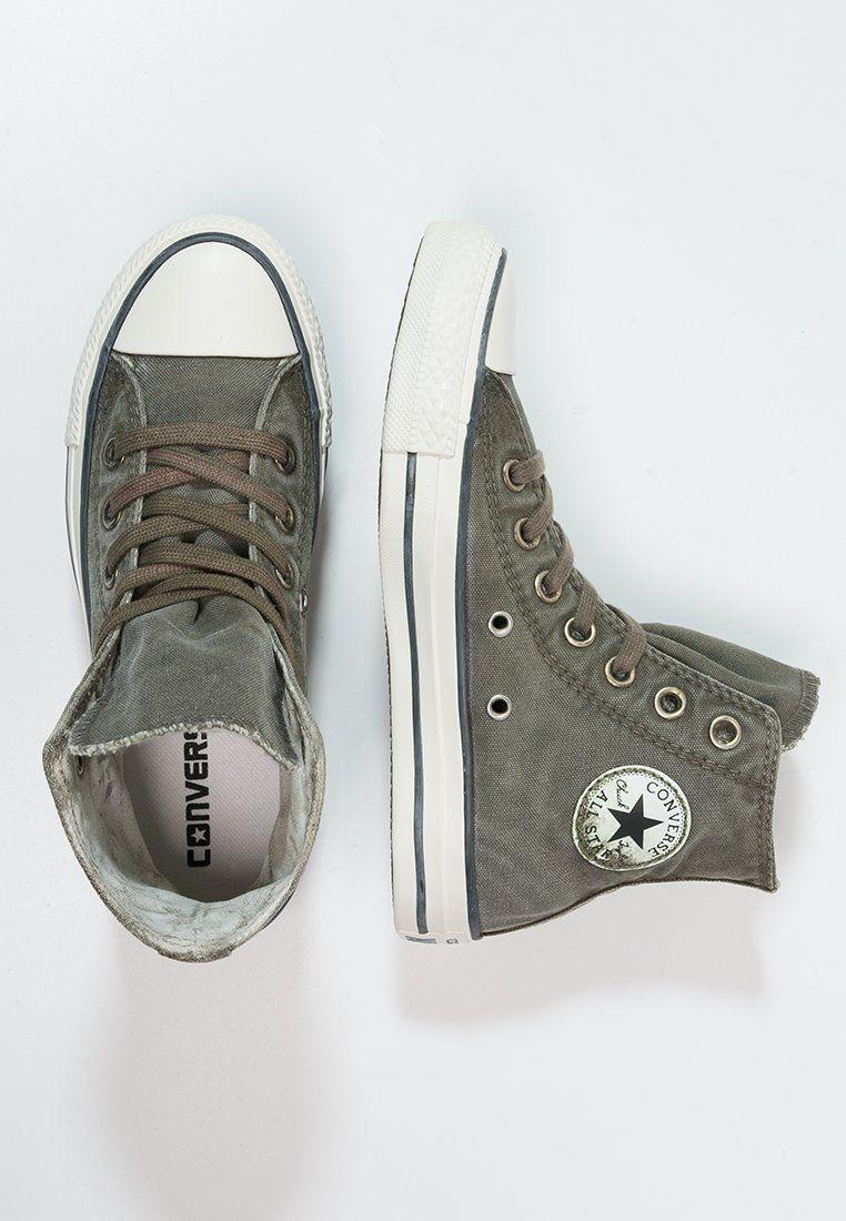 84b54a1c5e6 Converse CHUCK TAYLOR ALL STAR - Sneakers hoog - surplus green/converse  black/egret - Zalando.nl