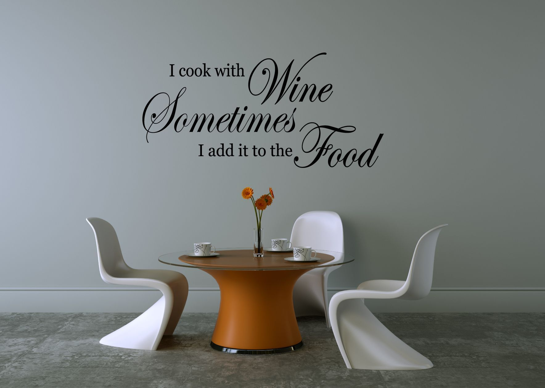 sayings wall decals italian kitchen wall decals ebay on wall stickers for living room id=21816