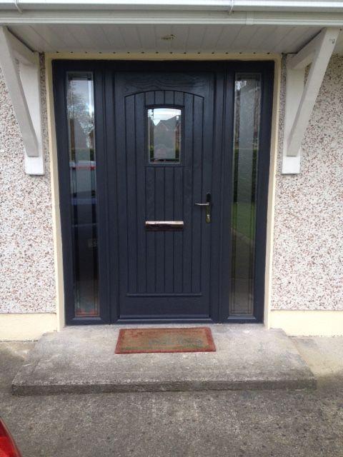 """Doors Design: Palladio Composite """"T&G"""" Door In Anthracite Grey"""