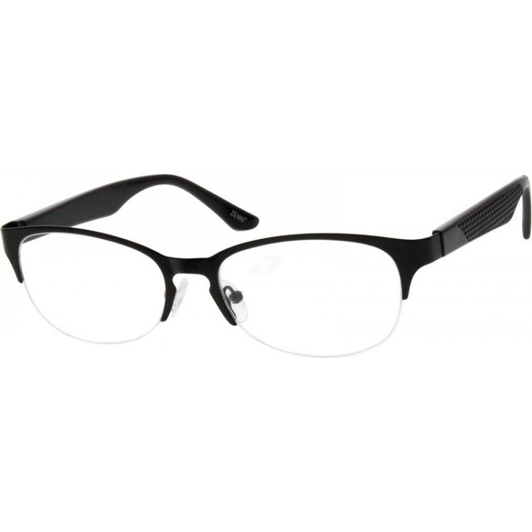 A Half Rim Stainless Steel Frame For Women With Flexible Plastic Temple Arms Hypoallergenic And Comfortable With Adjust P Glasses Oval Glasses Zenni Optical