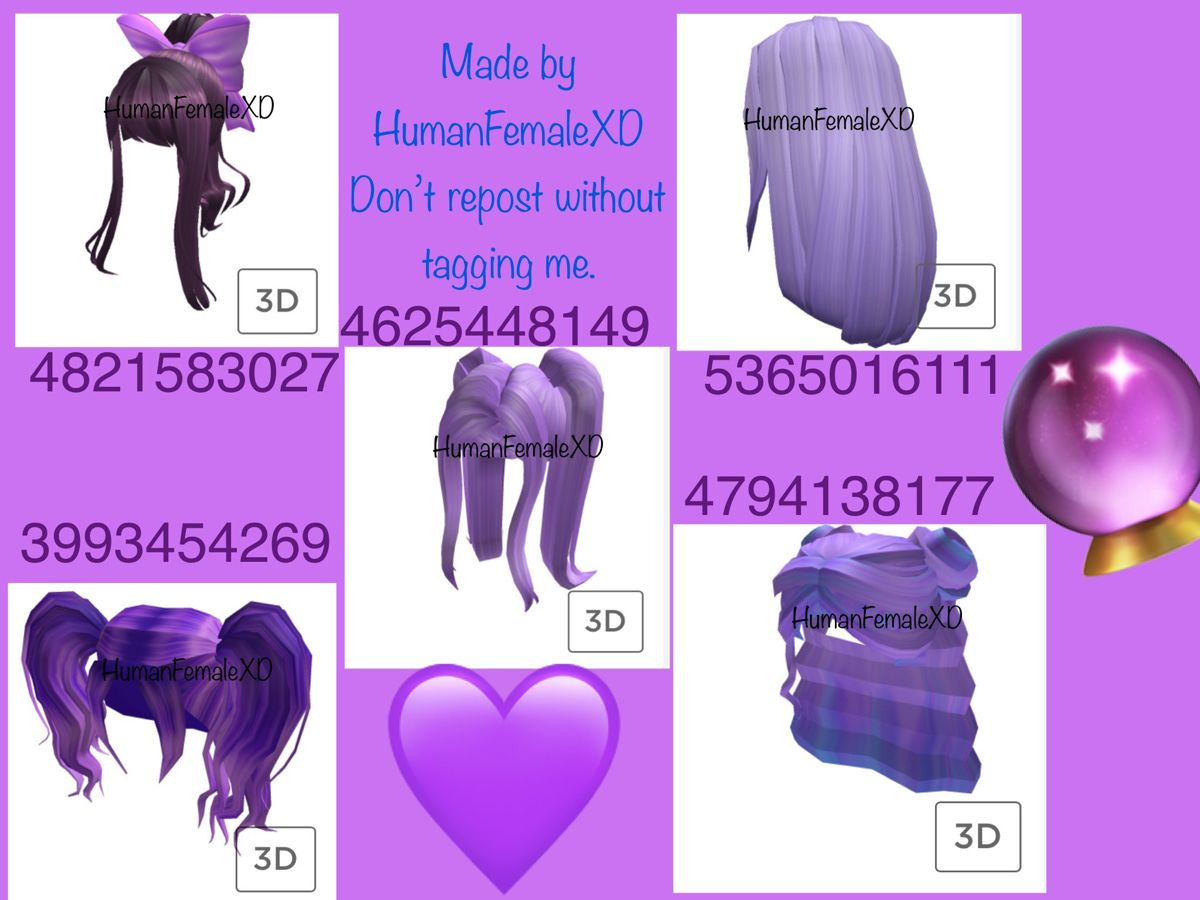 Purple Hair Roblox Codes In 2020 Roblox Codes Roblox Roblox Pictures