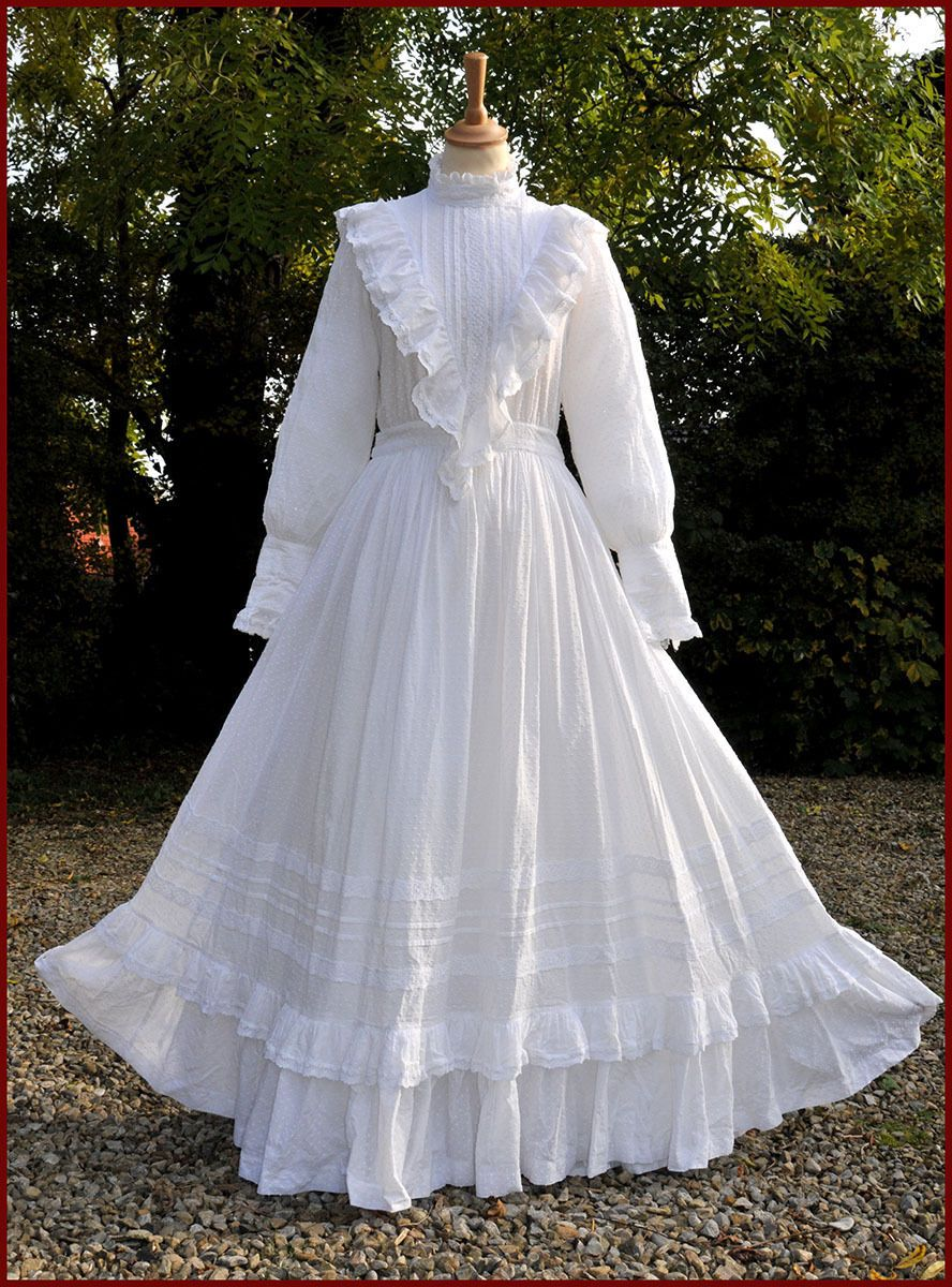 Vintage Laura Ashley Wedding Dress Edwardian Style