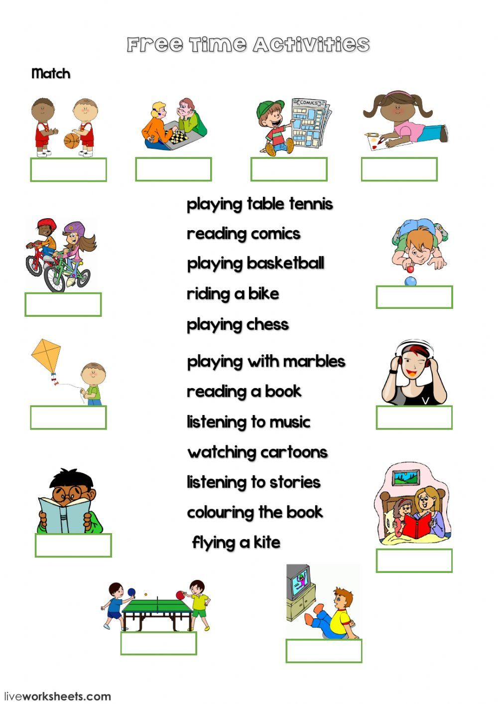 Free Time activities interactive and downloadable ...