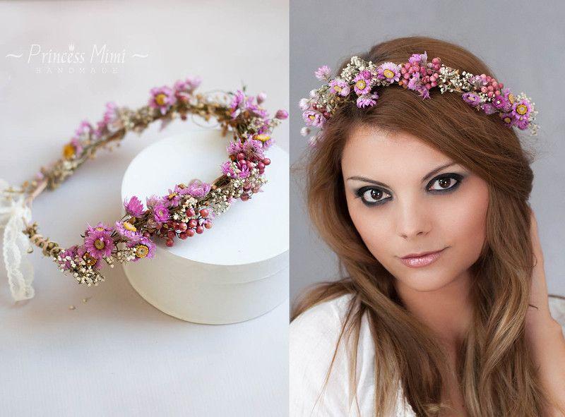Blumenkranz Haare Kinder : blumenkranz haarkranz haarband braut haarschmuck von ~ Watch28wear.com Haus und Dekorationen