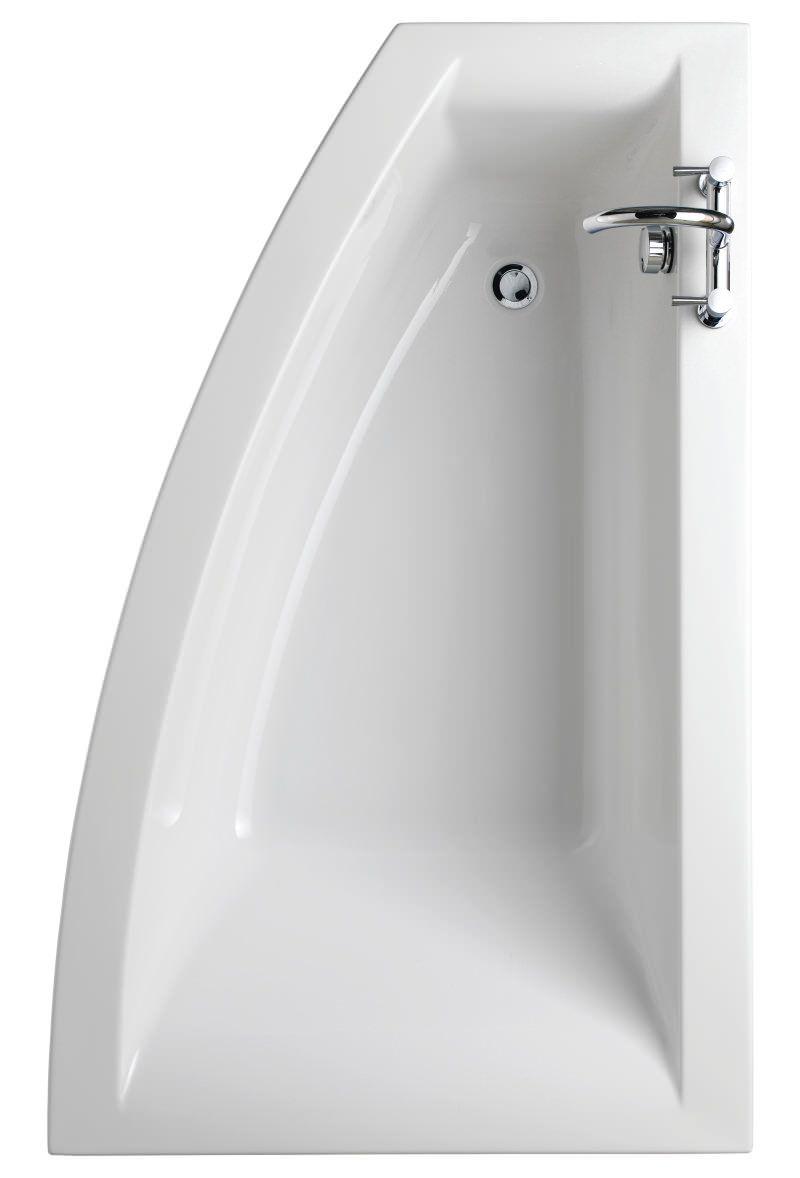 Twyford Indulgence Offset Corner Bath 1600 x 500-1000mm -ID8900WH ...