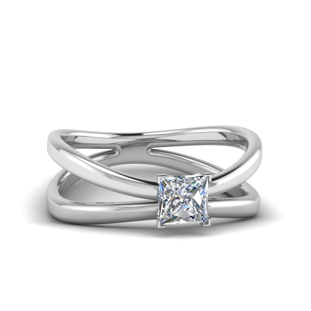 Reverse Split Shank Solitaire Ring Rings Engagement Rings