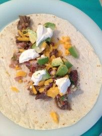 For all of you poor, displaced San Diego-ites, the quest to find an authentic carne asada burrito is always disappointing, until now. This recipe was posted on Onestopcook.com by David. (I only added the limes) Its been over 4 years since I was in S.D. last and I have been craving this burrito ever since. I ate 5 of these bad boys in 2 days. I would take a bite, close my eyes, and dream of La Jolla, Balboa park or a stroll around Seaport Village. I hope you enjoy it as much as I did.