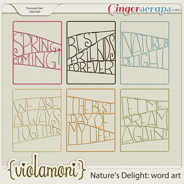 Natures Delight: word art by ViolaMoni