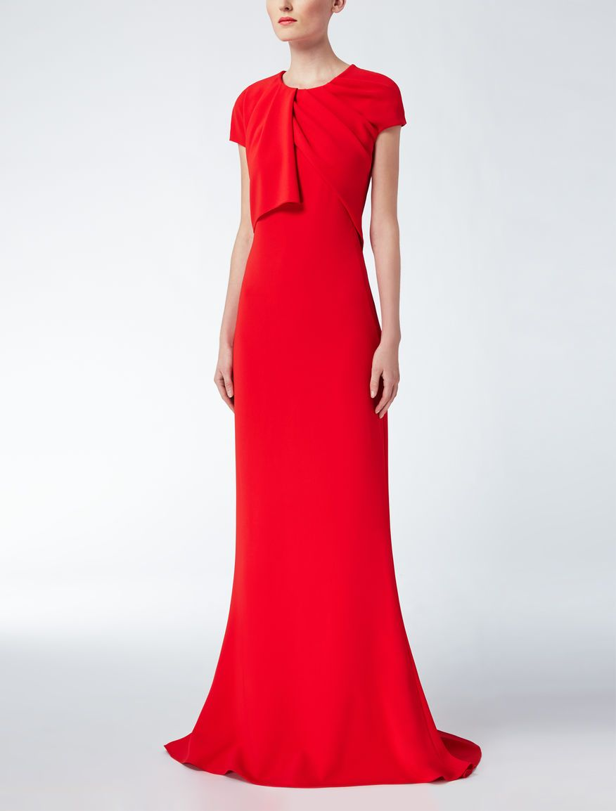 Max Mara EUFEMIA red: Long cady dress. Find your outfit on the ...