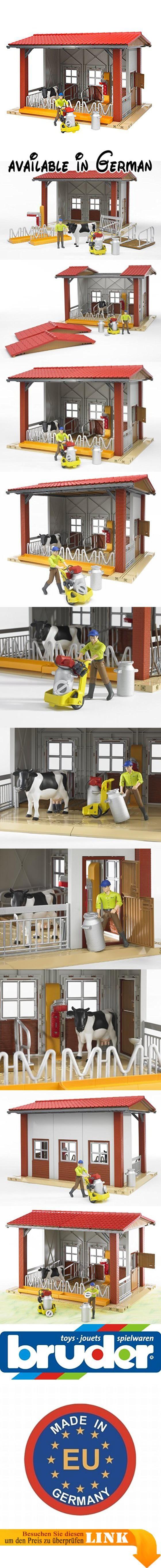 Bruder 62621 - Kuhstall mit Melkmaschine, Kuh und Figur. Gebäude ...