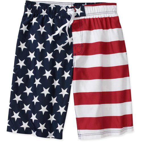 Men American Flag Style Surf Board Beach Shorts Swim Wear Trunks Pants M-2XL