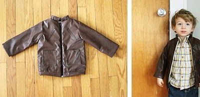 6f30bc7f9bbd Make your own leather jacket for your little boy! Do I have the ...