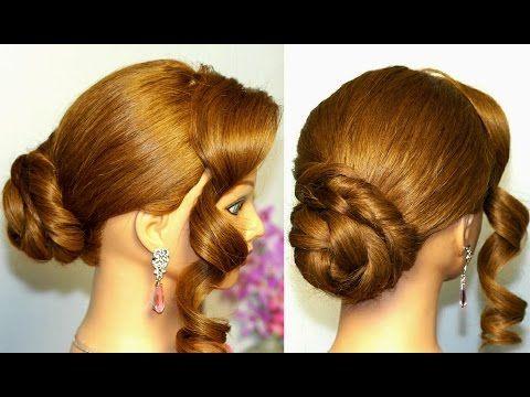 Hairstyle For Medium Long Hair Easy Updo Youtube Elegant Everyday Hairstyles Everyday Hairstyles Hair Styles