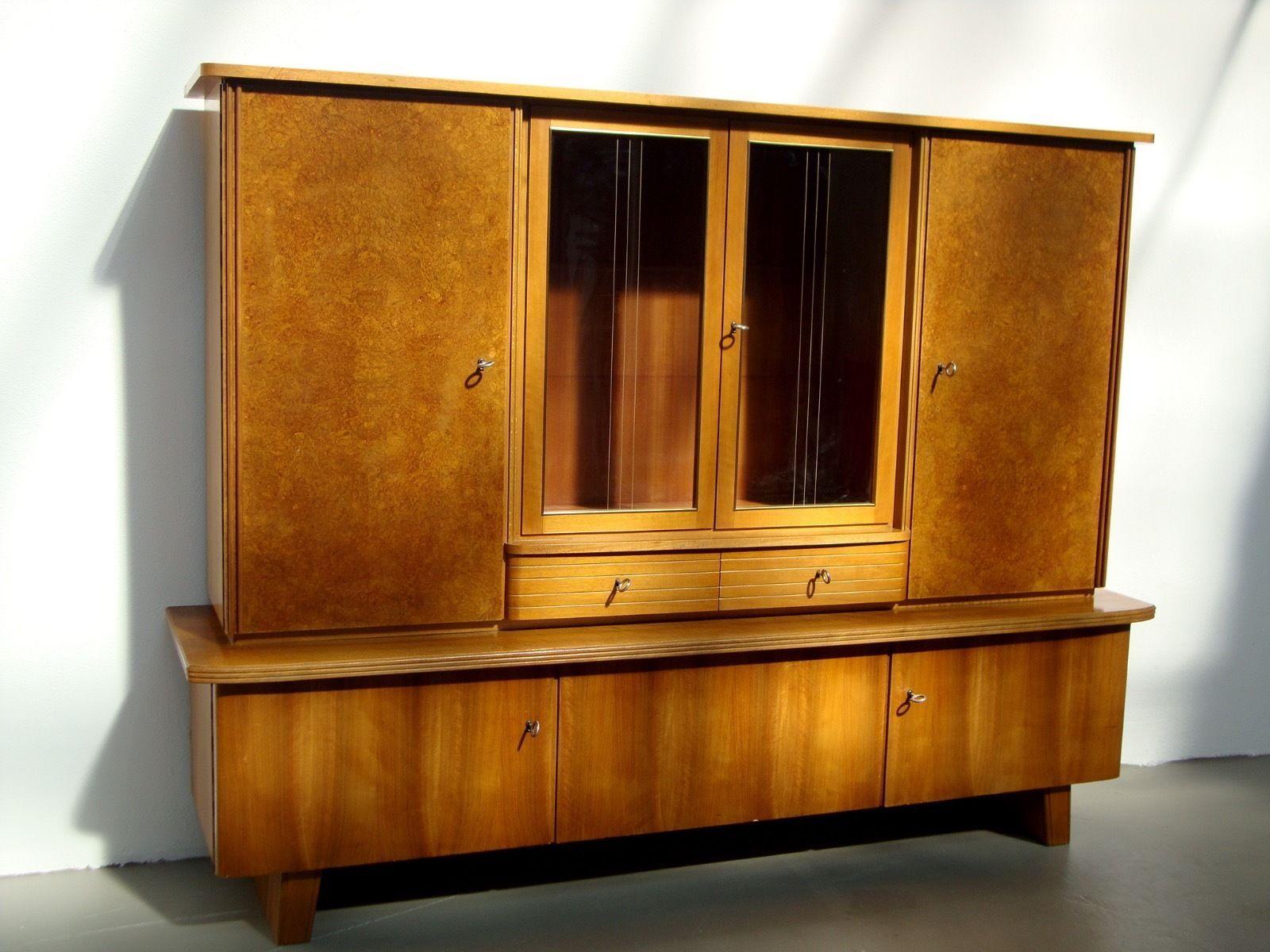 Bezaubernd Sideboard Vollholz Foto Von Küchenschrank Küchenbuffet Schrank Vintage Design 50er 60er