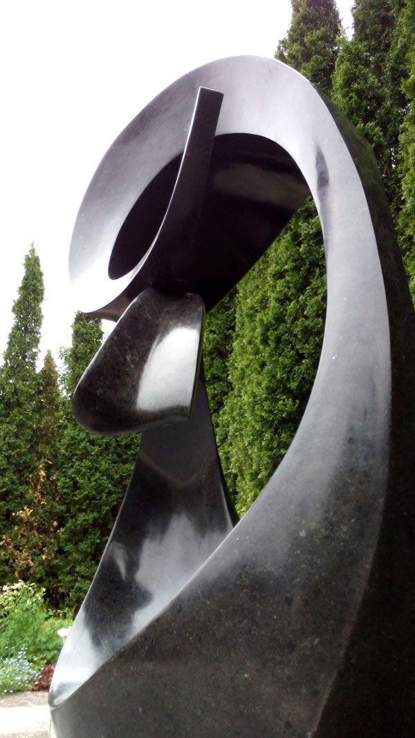 'Inversion' 7.5' black granite