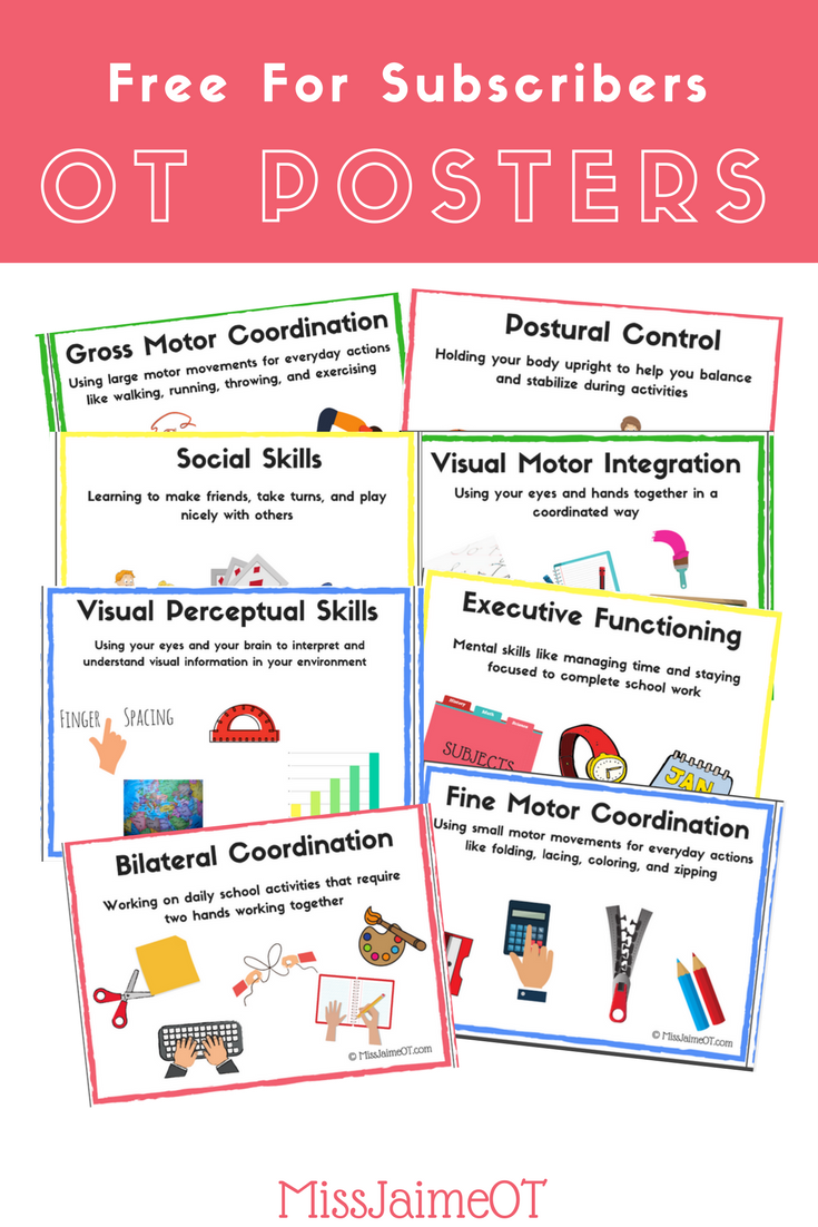 Back To School Occupational Therapy Poster Perfect For Bulletin