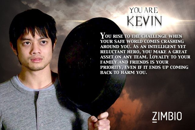 I took Zimbio's 'Supernatural' quiz and I'm Kevin! Who are