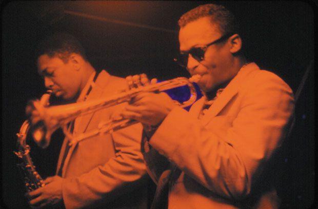 Miles Davis and John Coltrane (Dan Hunstein, courtesy of Sony Music)