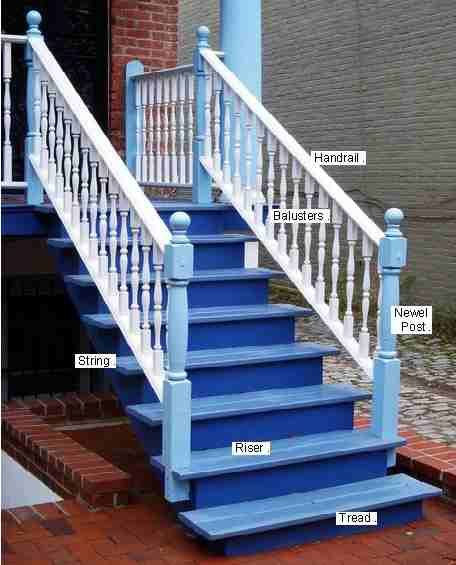antique victorian step railing | pillars for staircase ...