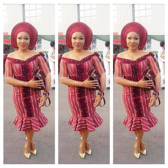 Lovely Short Lace Gown Styles For Ladies Who Love To Rock Owambe