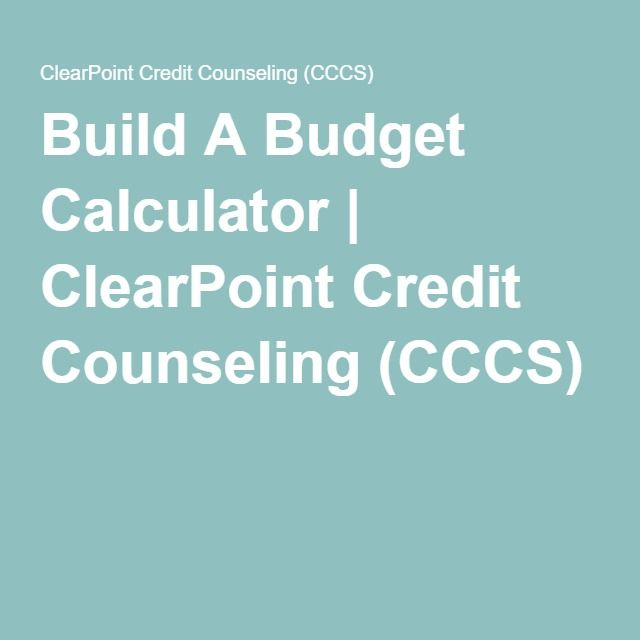 Build A Budget Calculator ClearPoint Credit Counseling (CCCS