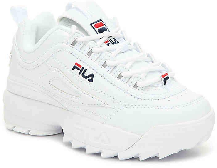 Girls Disruptor II Toddler \u0026 Youth Sneaker ,White in 2020