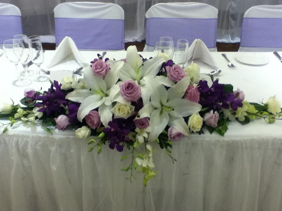 Wedding Style Guide Image Inspiration: Lilac Table Arrangement