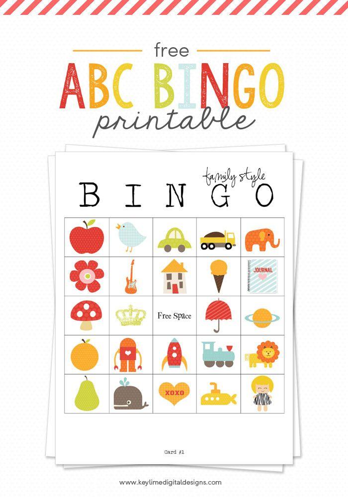 ABC Bingo Printable Favorite Lil\u0027 Luna Team Pins Pinterest Abc